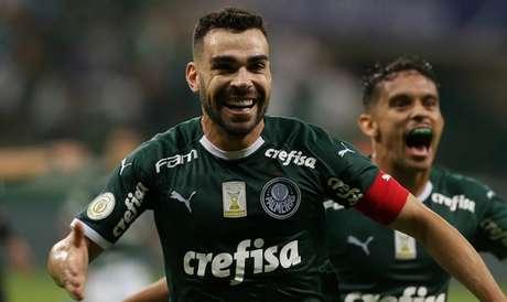 Bruno Henrique entrou na área para fazer o gol da vitória do Palmeiras (Foto: Cesar Greco/Palmeiras)