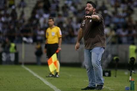 Barroca em ação na partida contra o Ceará (Foto: Vítor Silva/Botafogo)