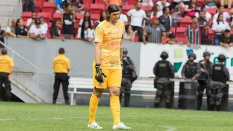Goleiro Cássio falho0u na vitória do Fluminense por 1 a 0 (Osvaldo Lima/ Photo Premium/ Lancepress!)