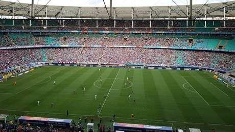 Bahia e Fortaleza ficaram no 1 a 1 (Foto: Reprodução/Twitter)