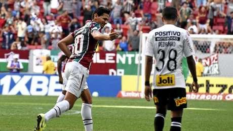 Ganso comemora gol, em frango de Cássio (MAILSON SANTANA/FLUMINENSE FC)