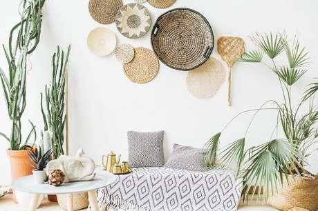 11. Decoração clean para sala com elementos naturais – Foto: Habitissimo