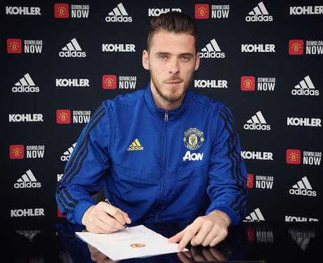 De Gea renovou com o United após longa negociação (Foto: Divulgação/Manchester United)