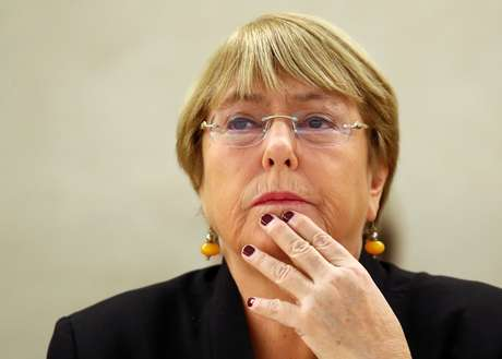 Alta comissária das Nações Unidas para os Direitos Humanos, Michelle Bachelet, em Genebra, Suíça. 9/9/2019.  REUTERS/Denis Balibouse