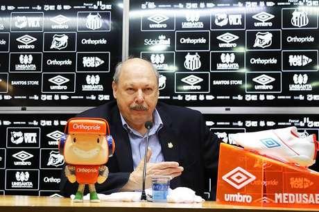 Presidente do Santos vê Flamengo e Palmeiras favoritos (Ivan Storti/SFC)
