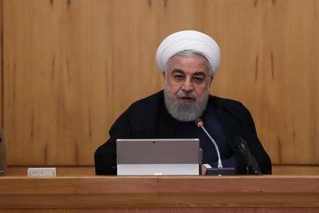 Rouhani fala durante reunião em Teerã 18/9/2019  Presidência do Irã/ REUTERS