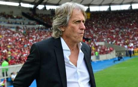 Jorge Jesus sofreu críticas de Carpegiani, mas também elogios pelo trabalho (Foto: Celso Pupo/Fotoarena)