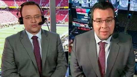 Everaldo Marques e Rômulo Mendonça, respectivamente, são narradores da ESPN Brasill (Foto: Reprodução)