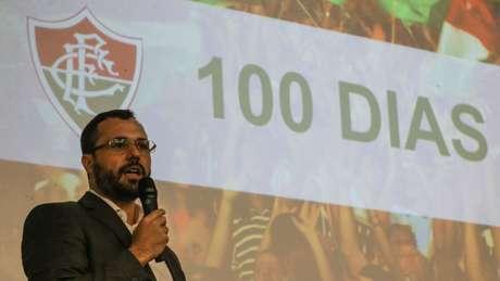 Mário Bittencourt fez um balanço dos cem primeiros dias de gestão no Flu (Foto: Lucas Merçon/Fluminense)