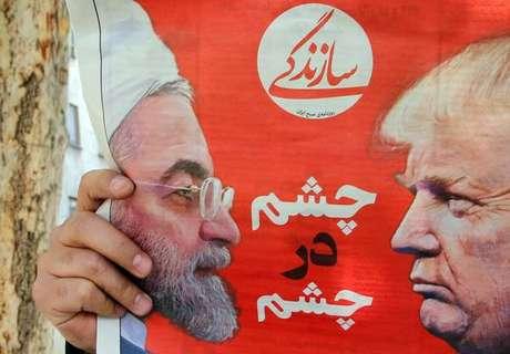 Jornal iraniano estampa Rohani e Trump em sua capa