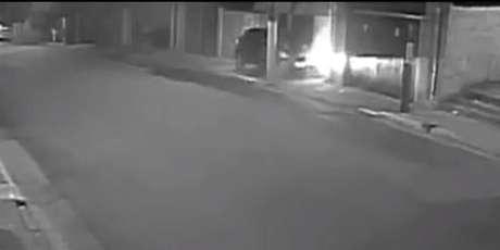 Imagens de câmeras de segurança registraram o crime na Pedreira, zona sul de São Paulo
