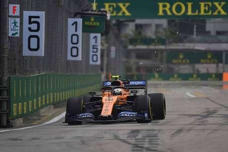 "Norris: ""Evolui muito rapidamente"" no Circuito da Marina Bay"
