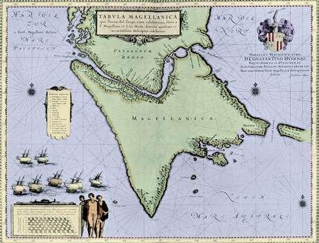 As crônicas da época narram que cruzar o labiríntico estreito de Magalhães foi para a expedição um verdadeiro inferno
