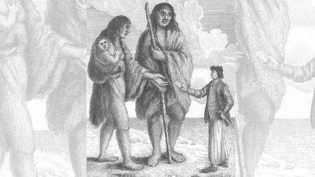 A expedição descreveu o primeiro patagônio como 'um homem de estatura gigantesca'