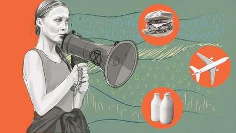 Ilustração de jovem ativista ambiental