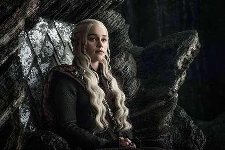 Emilia Clarke como Daenerys Targaryen em 'Game of Thrones'.
