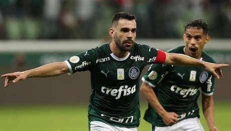 Com 5º gol no Brasileiro, Bruno Henrique empatou com Dudu como artilheiro do time (Foto: Cesar Greco/Divulgação)