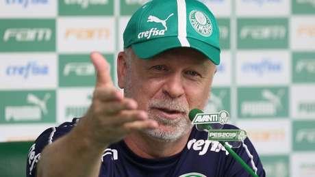 Mano Menezes venceu as três partidas em que comandou o Palmeiras até aqui (Foto: Cesar Greco/Ag. Palmeiras)