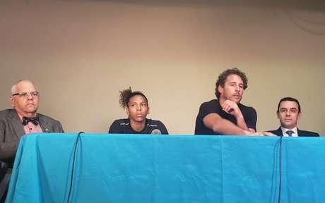 Rafaela Silva deu sua versão para o caso de doping em coletiva no Rio de Janeiro (Foto: Jonas Moura/Lance!)