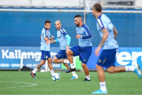 O Grêmio viaja para São Paulo nesta sexta-feira (Foto: Lucas Uebel/Grêmio FBPA)