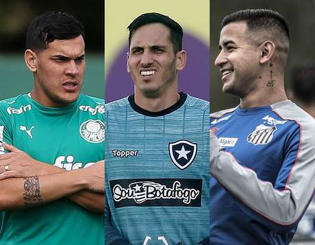 Jogadores de Palmeiras, Botafogo e Santos desfalcarão suas equipes (Foto: Cesar Greco/Vitor Silva/Ivan Storti)