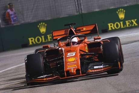 Vettel arriscou bastante na última volta do Q3