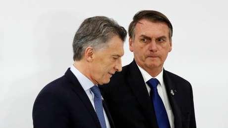 Macri e Bolsonaro, durante cúpula do G20 em junho; pesquisas de opinião mais recentes apontam vantagem da oposição argentina na eleição de outubro