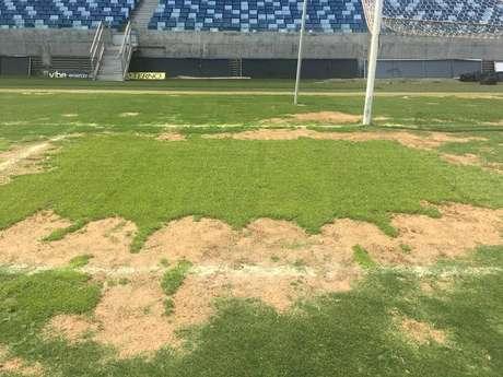 Gramado da Arena Pantanal não está em boas condições