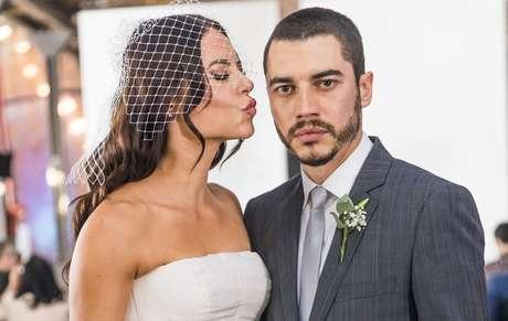 Vivi e Camilo no dia do casamento que terminou em escândalo de traição