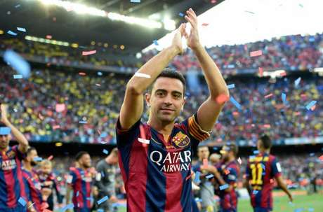 Xavi se despediu do Barcelona em 2015 (Foto: Lluis Gene/ AFP)