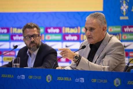 Tite gerou reclamações com a convocação da Seleção Brasileira (Foto: Lucas Figueiredo/CBF)