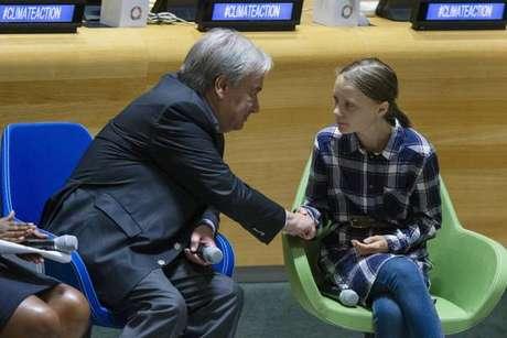 Na ONU, Greta exalta força de jovens na luta pelo clima