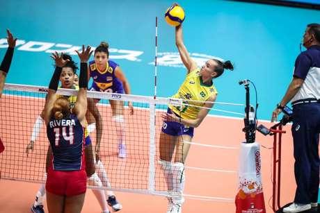 Gabi foi a maior pontuadora do Brasil (Foto: Divulgação/FIVB)