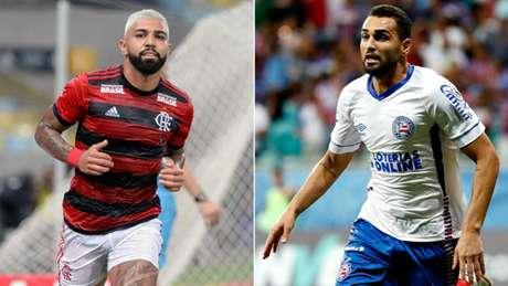 Atacantes de Flamengo e Bahia seguem em alta (Foto: Reprodução)