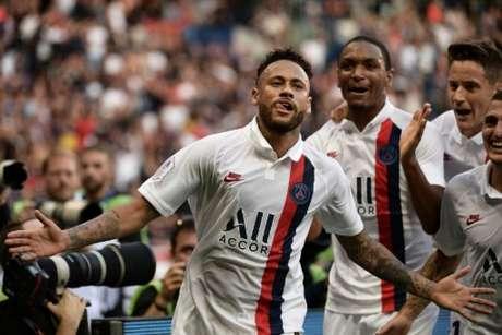 Neymar marcou dois gols em dois jogos em seu retorno ao PSG (Foto: AFP)