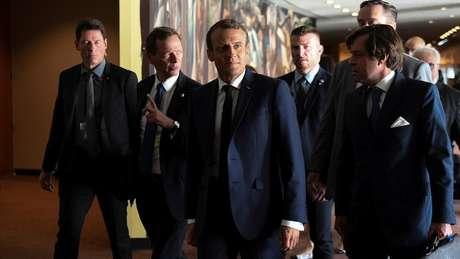 O presidente francês reafirmou após o discurso de Bolsonaro que Amazônia é 'bem comum'