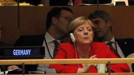 Merkel não chegou a reagir de forma efusiva ao discurso do presidente brasileiro