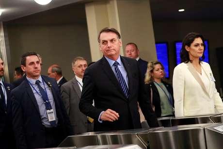 Presidente Jair Bolsonaro chega para discurso na Assembleia Geral da ONU
