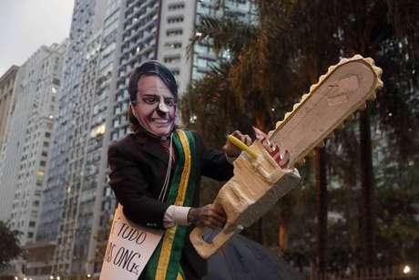 Bolsonaro é alvo de protestos em frente à sede da ONU