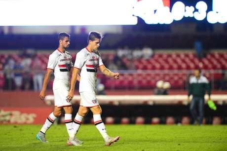 São Paulo foi derrotado por 3 a 0 na última partida contra o Goiás no Morumbi (Foto: Sergio Barzaghi/Gazeta Press)