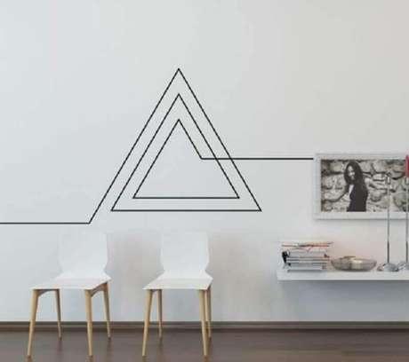 44. Decoração moderna com fita isolante preta – Foto: Casa e Festa