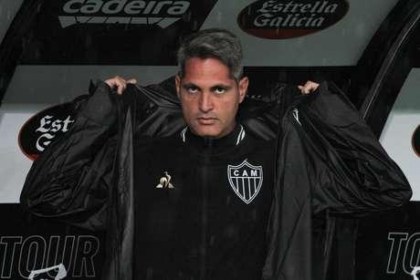 O técnico Rodrigo Santana, do Atlético-MG, durante partida contra o Corinthians pela 17ª rodada do Campeonato Brasileiro 2019, na Arena Corinthians