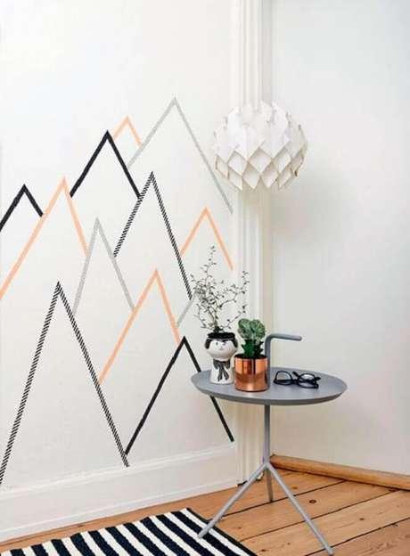 49. Delicada decoração com fita isolante formando pequenas montanhas – Foto: Pinterest