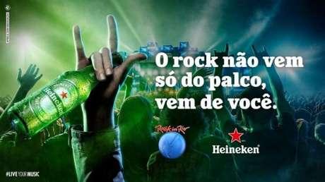 Heineken é a cerveja oficial do RIR; bebida é proibida para menores de 18 anos (Divulgação)