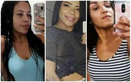 Da esquerda para a direita, as jovens assassinadas em Duque de Caxias: Stefani Rocha Moraes, Ingrid Rocha de Souza e Andressa Soares Lima Domingos