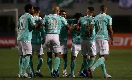 Verdão fez quatro gols no primeiro tempo (Foto: Cesar Greco/Palmeiras)