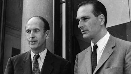 D'Estaing e Chirac: diferenças vieram à tona em pouco tempo entre presidente e primeiro-ministro