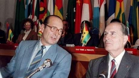 Relação entre Chirac e Miterrand era conflituosa