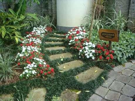 13. A grama preta pode ser usada para compor caminhos. Fonte: Pinterest