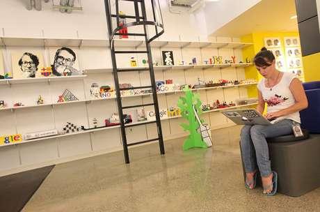 A sede do Google tem uma sessão só de Lego em seu quarto andar